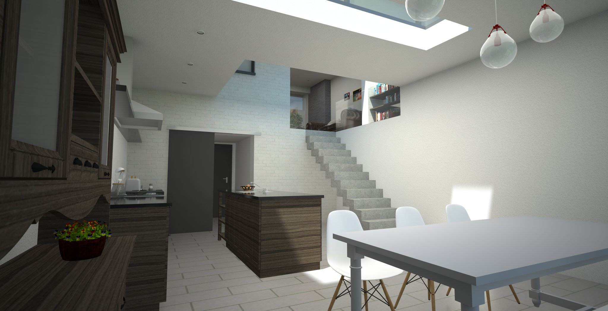 Woonkamer hal trap en keuken schilderen hot girls wallpaper - Eetkamer en woonkamer ...